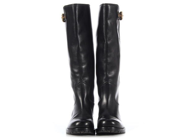 Louis Vuitton Black Riding Boots