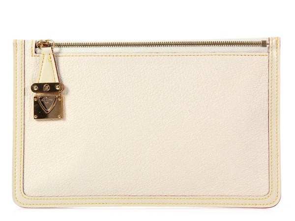 Louis Vuitton Ivory Suhali Pouch