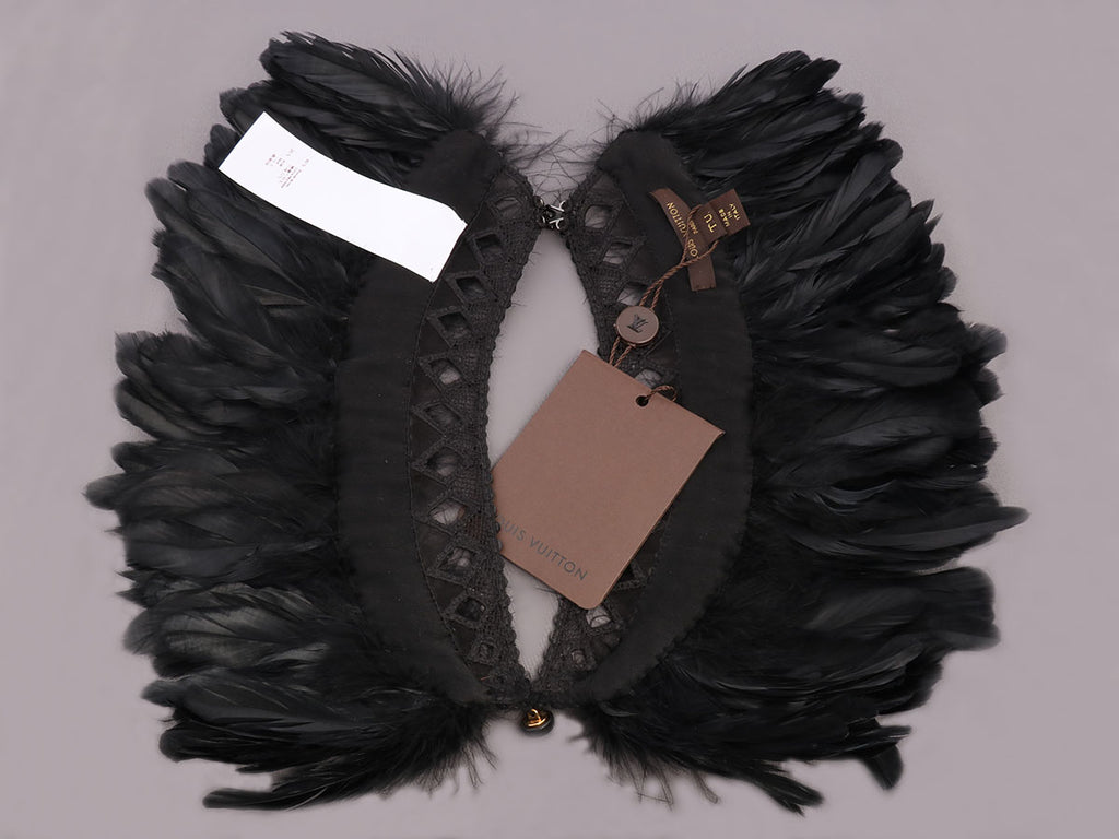Louis Vuitton Black Feather Collar