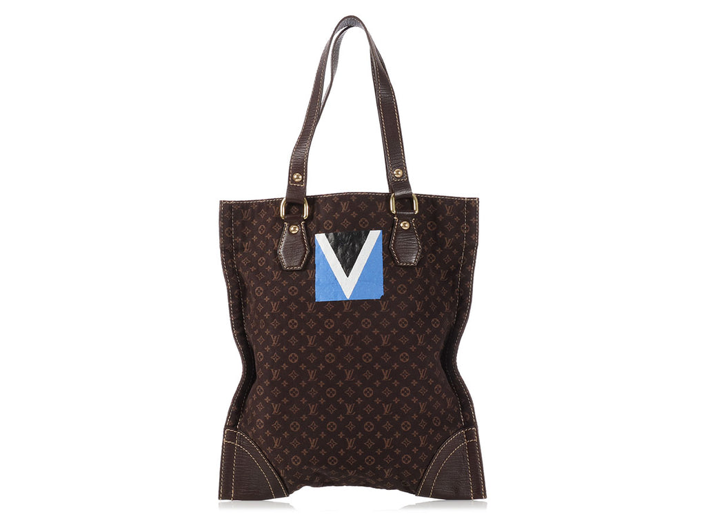 Louis Vuitton Brown Mini Lin Sac Plat Tanger Regatta Tote