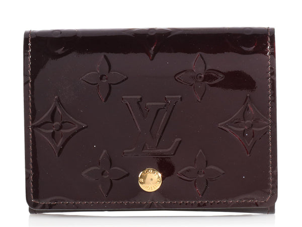 Louis Vuitton Burgundy Vernis Card Case
