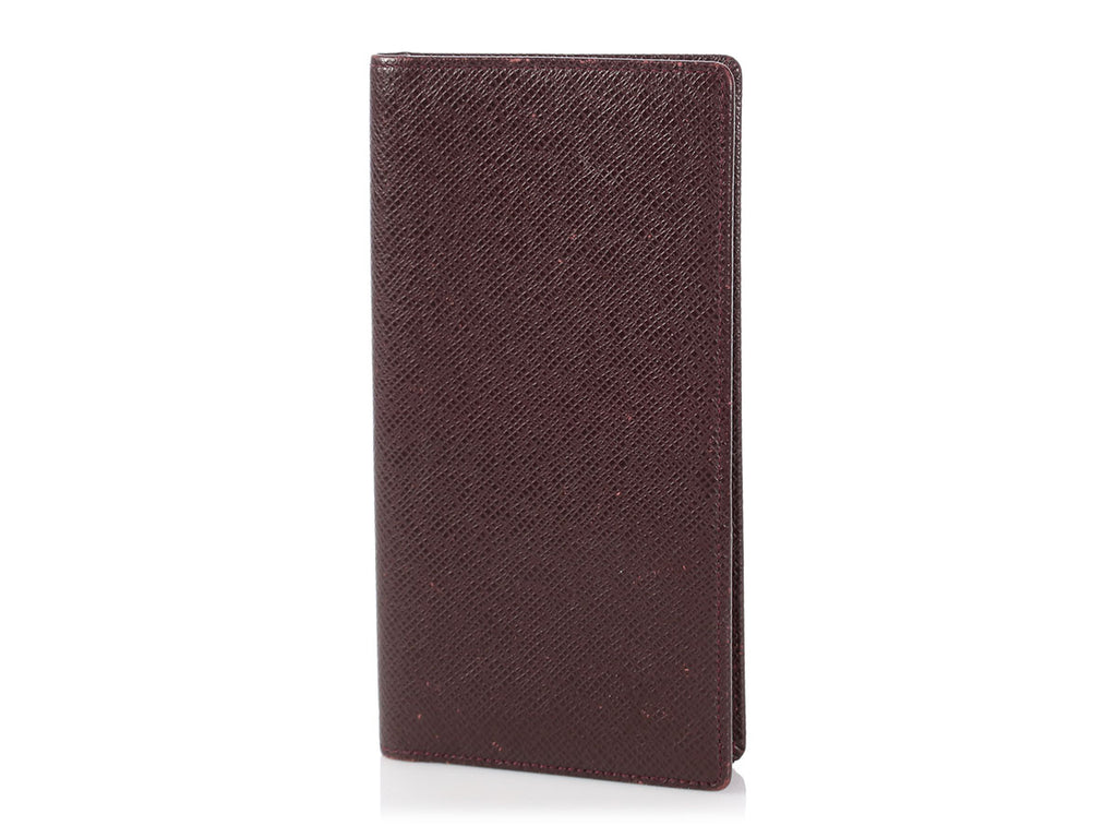Louis Vuitton Brown Leather Checkbook Cover