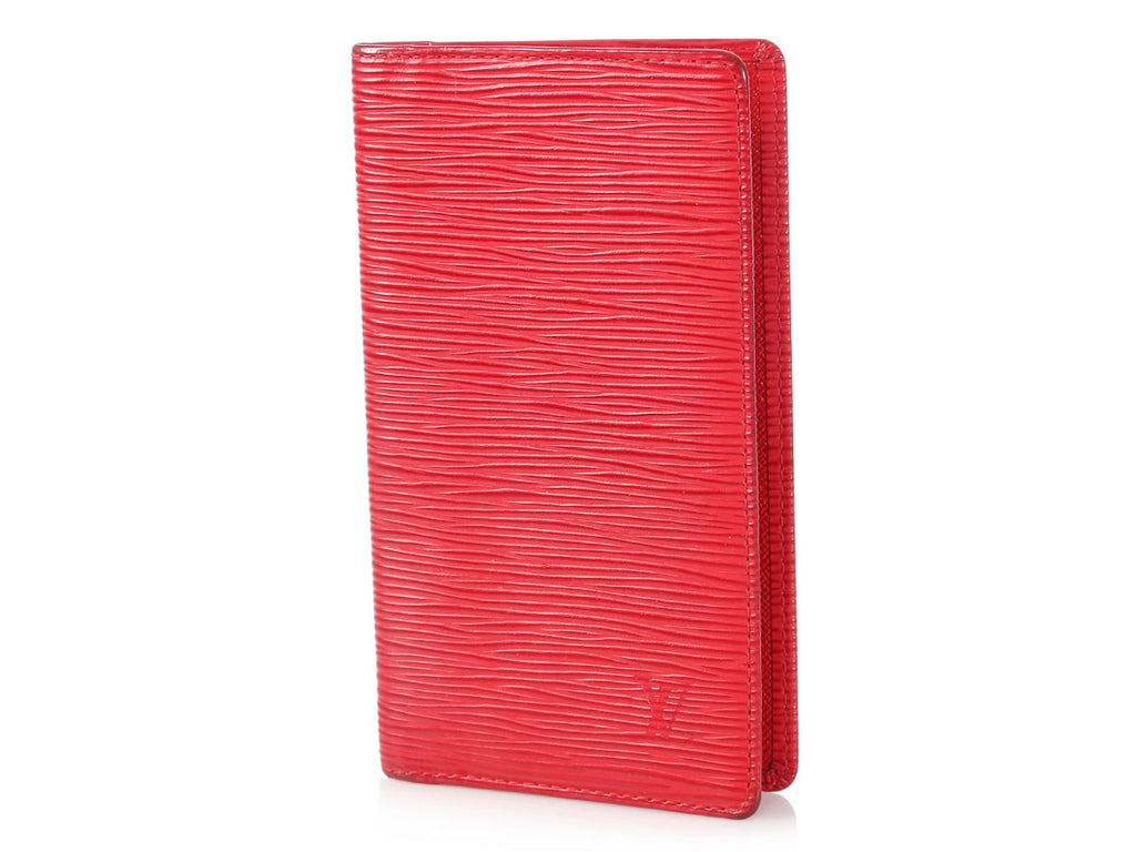 Louis Vuitton Red Epi Checkbook Cover