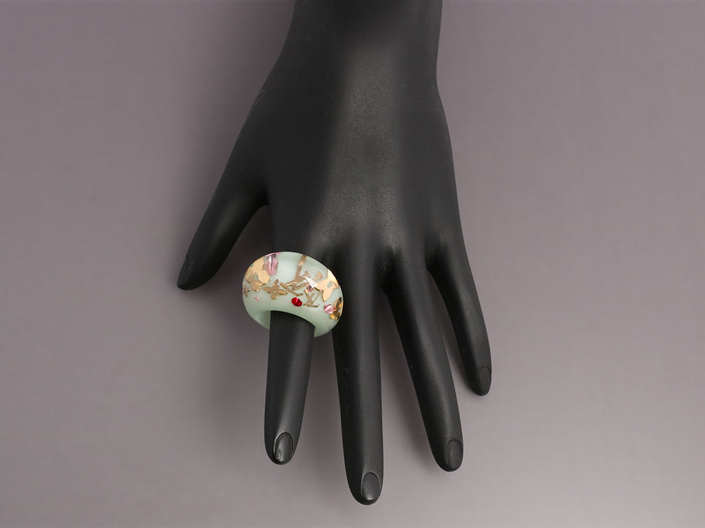 Louis Vuitton Pale Green Inclusion Ring