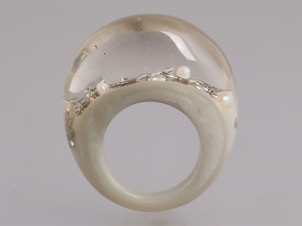 Louis Vuitton Pearl Gray Inclusion Ring