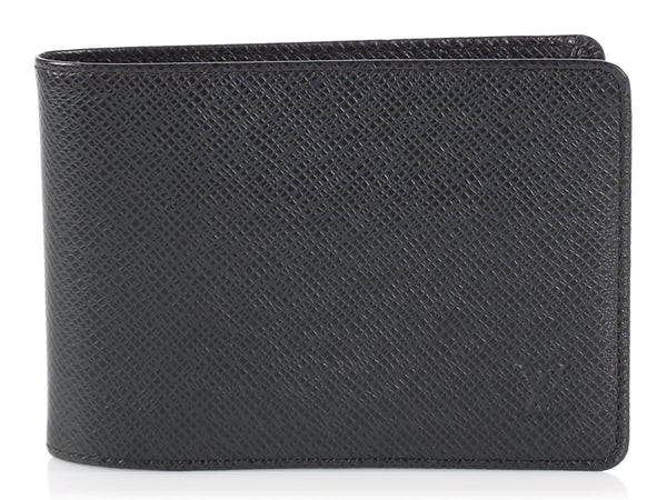 Louis Vuitton Black Leather Bifold Wallet