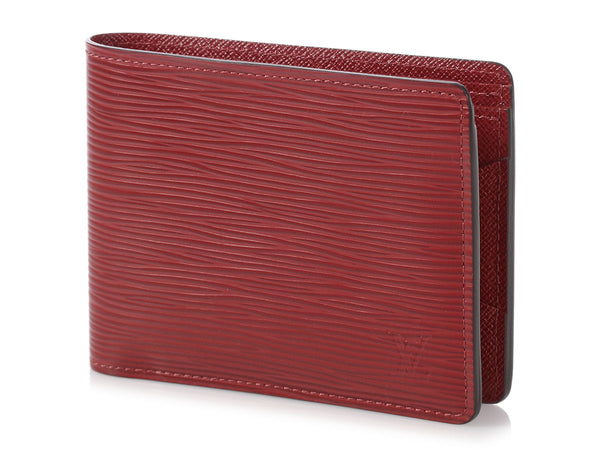 Louis Vuitton Dark Red Epi Multiple Wallet