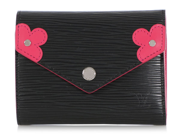 Louis Vuitton Black Epi Blooming Corners Victorine Wallet