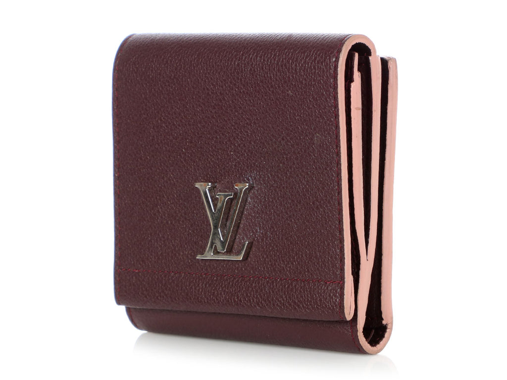 Louis Vuitton Prune LockMe II Compact Wallet