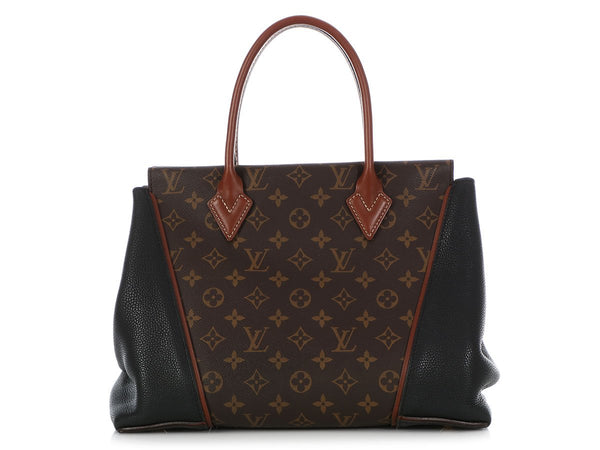 Louis Vuitton Monogram and Black Leather W Tote PM