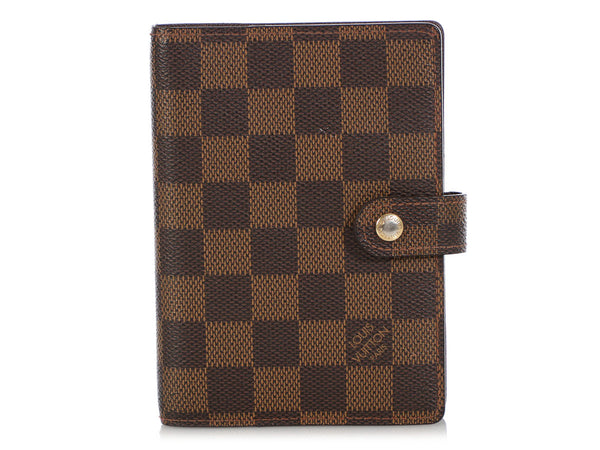 Louis Vuitton Damier Ebène Small Six Ring Agenda Cover