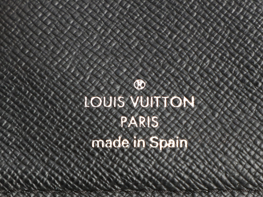 Louis Vuitton Small Black Epi Six Ring Agenda Cover