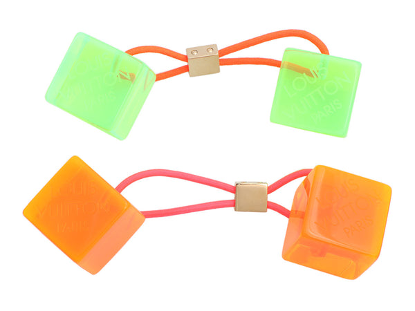 Louis Vuitton Robert Wilson Orange and Green Fluo Hair Cubes Se