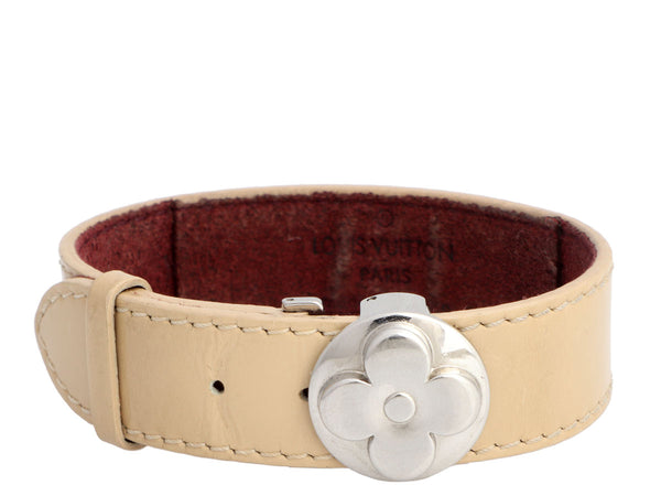 Louis Vuitton Beige Vernis Wish Wrap Bracelet