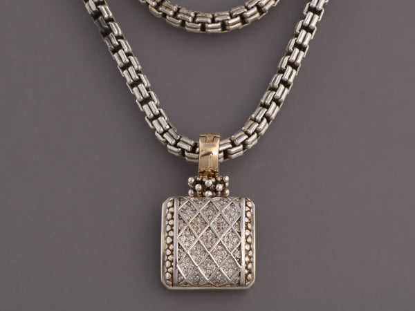 Michael Dawkins Sterling Silver and Diamond Pendant Necklace