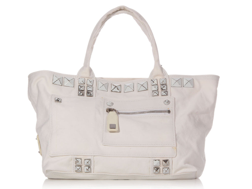Marc Jacobs White Sweet Punk Canvas Tote