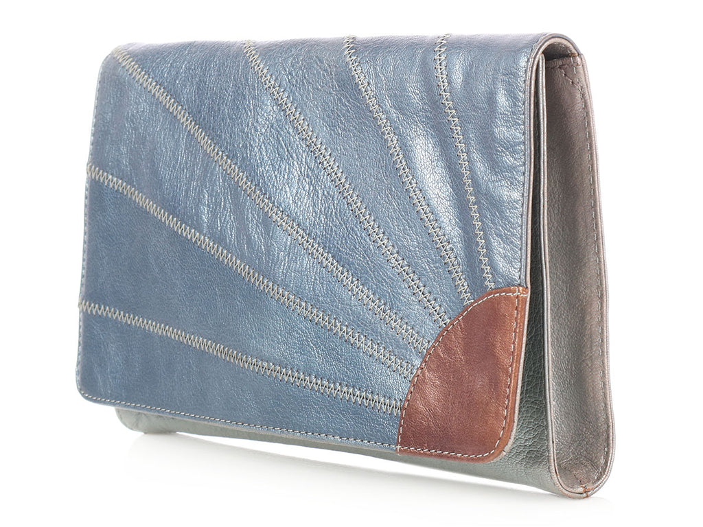 Marc Jacobs Metallic Leather Clutch