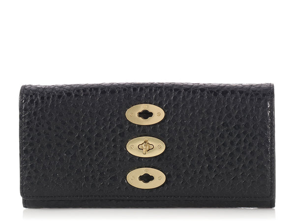 Mulberry Black Bryn Continental Wallet