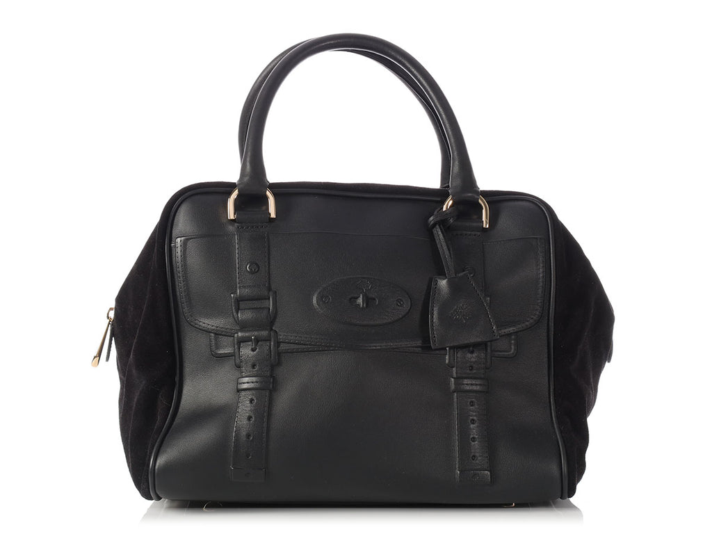 Mulberry Black Maisie Clipper Satchel