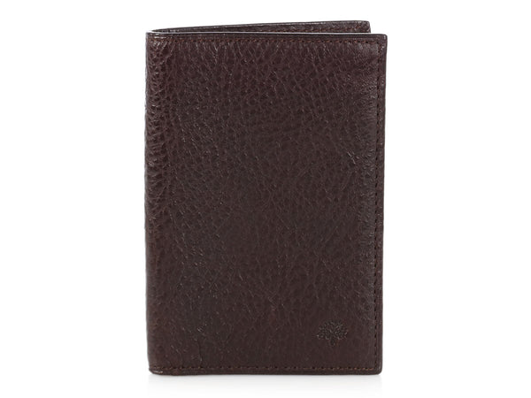 Mulberry Brown Leather Pocket Organizer