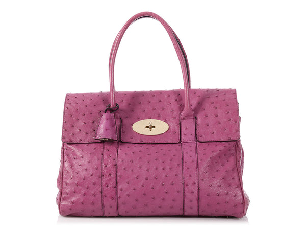 Mulberry Purple Ostrich Bayswater