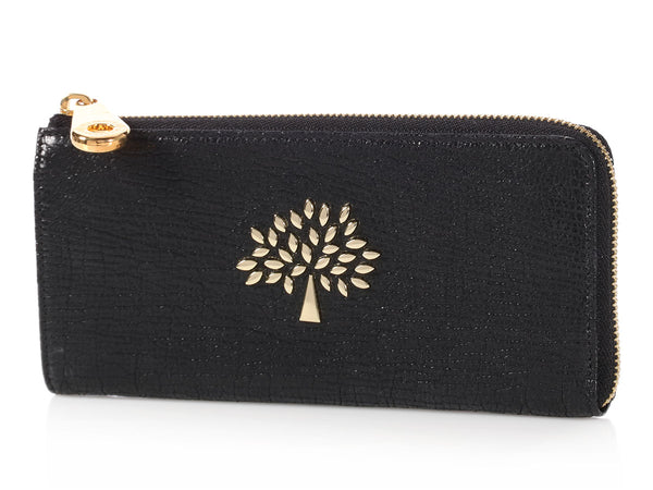 Mulberry Black Mila Zip Wallet