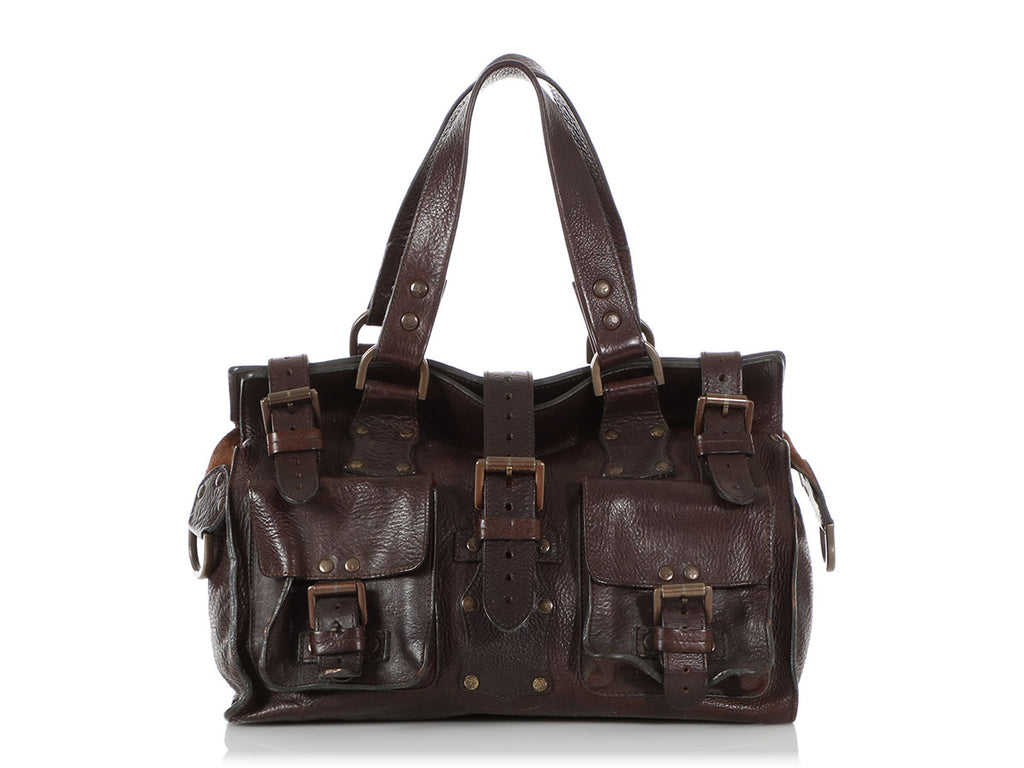 Mulberry Dark Chocolate Darwin Leather Roxanne