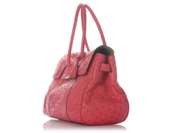 e6f48bfbcbbb Mulberry Lipstick Pink Ostrich Bayswater - Ann s Fabulous Closeouts