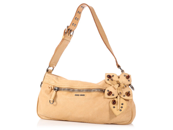 Miu Miu Limone Washed Holly Bag
