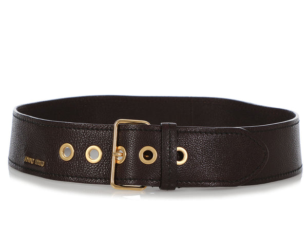 Miu Miu Wide Dark Brown Belt