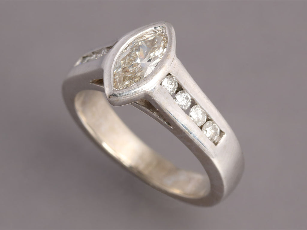 Marquise-Cut Diamond 14K Gold Ring