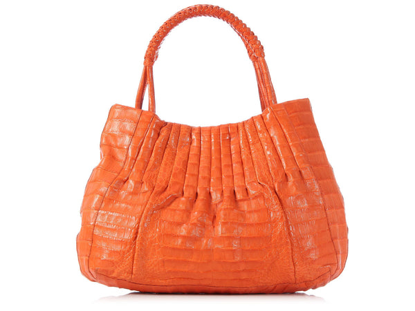 Nancy Gonzalez Orange Crocodile Bag