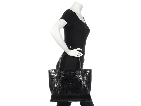 Nancy Gonzalez Black Crocodile Tote