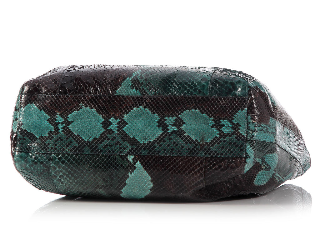 Nancy Gonzalez Medium Python Pinch Tote
