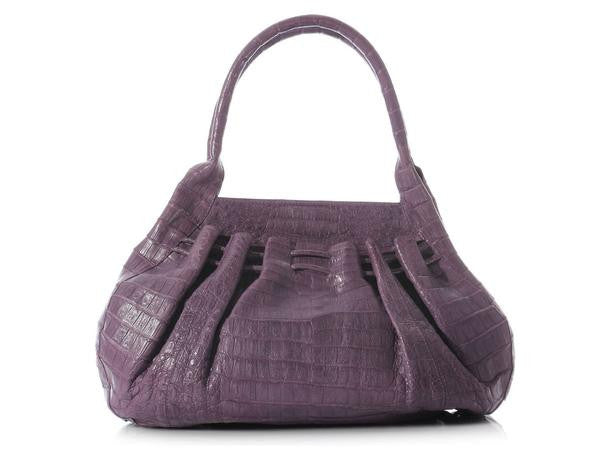 Nancy Gonzalez Lavender Crocodile Tote