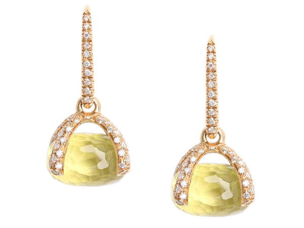 Nanis Citrine Diamond Bon Bon Earrings