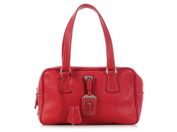 Prada Red Leather Bag