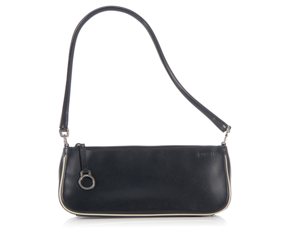 Prada Navy Leather Pochette