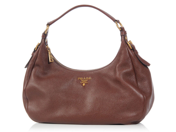 Prada Brown Daino Hobo