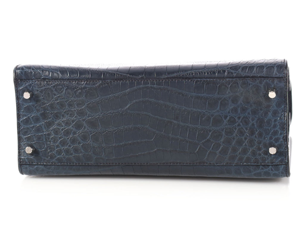 Prada Navy Crocodile Bag