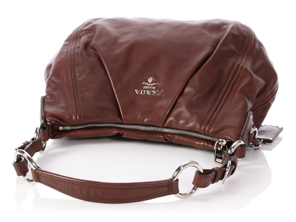 Prada Brown Leather Hobo