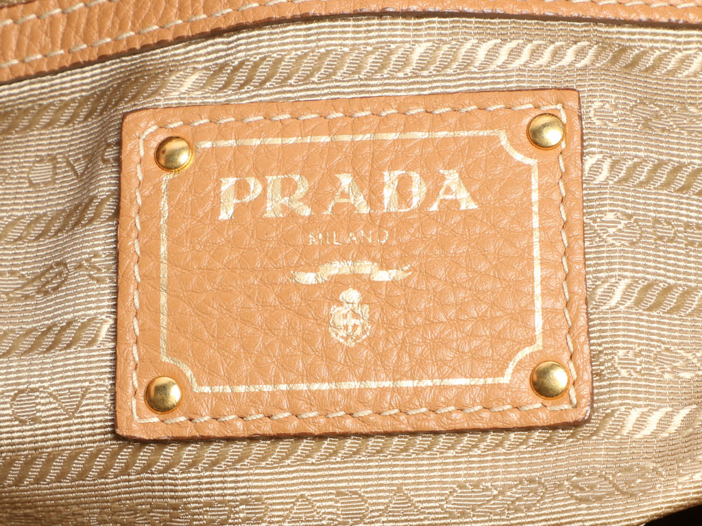 Prada Natural Vitello Daino Tote