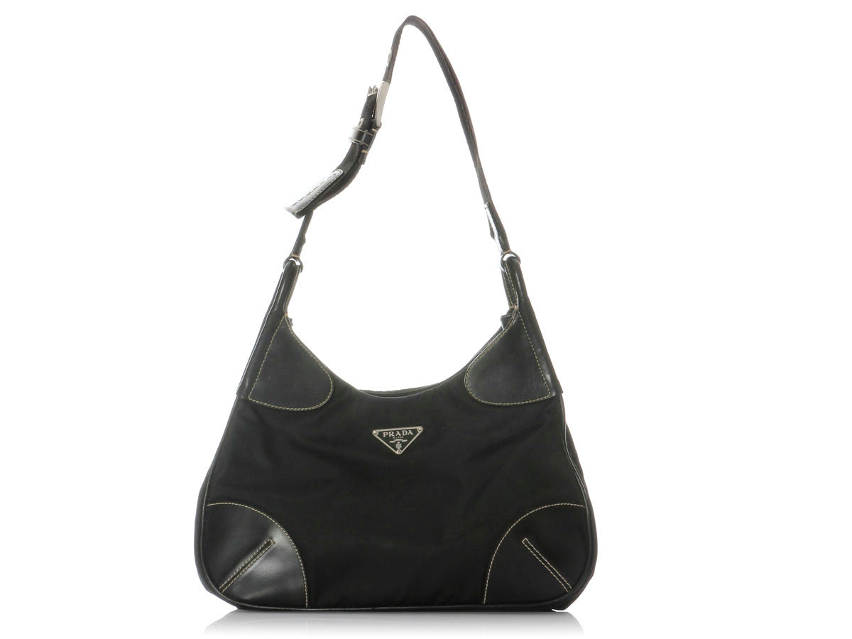 fa3b646e0f69 Prada Small Black Nylon Shoulder Bag - Ann s Fabulous Closeouts