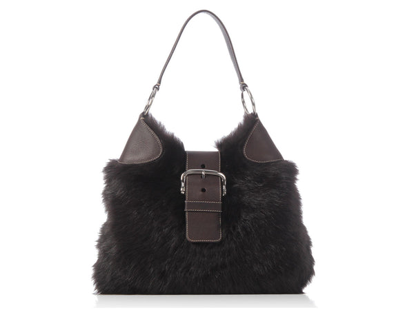 Prada Brown Fur Hobo