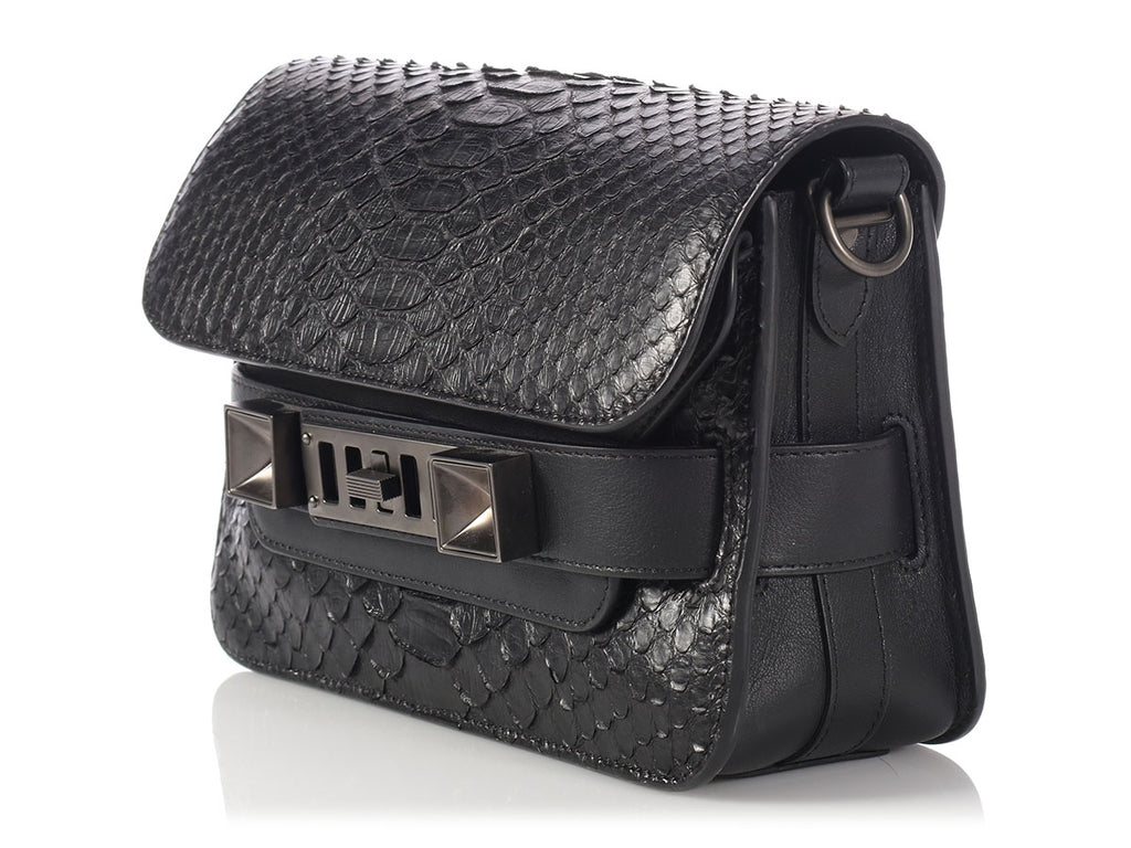 Proenza Schouler Black Snakeskin PS11 Mini