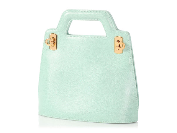 Ferragamo Mini Light Blue Tote