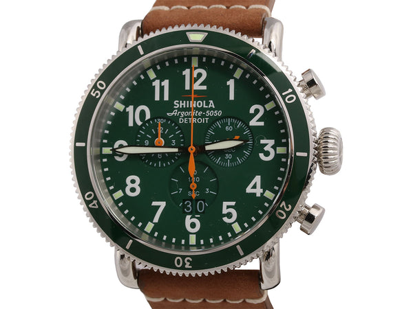 Shinola Mens Runwell Chronograph Watch 48mm