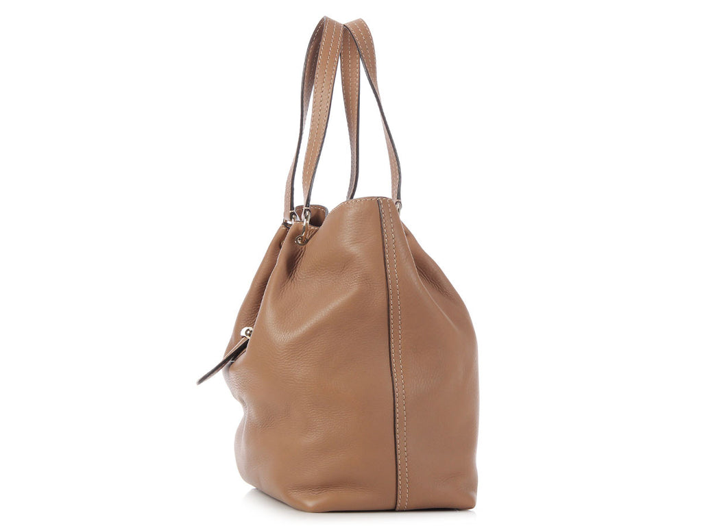 Tod's Caramel Passante Shopping Media Bag