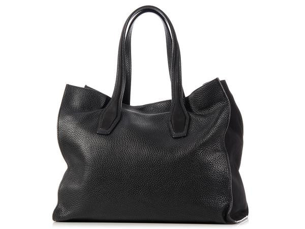 Tod's Black Due Manici Tote