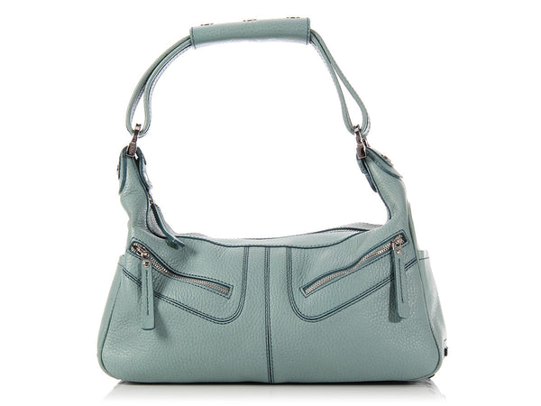 Tod's Light Blue Miky Shoulder Bag